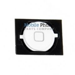iPhone 4S Home Button With Rubber Gasket - White